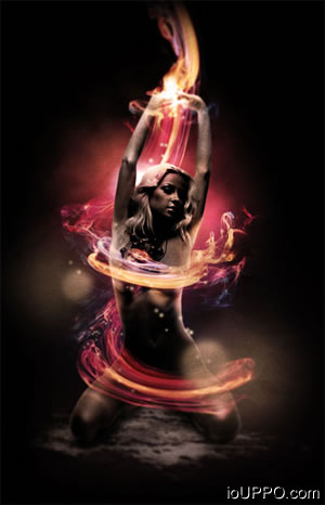 Fire Girl PSD